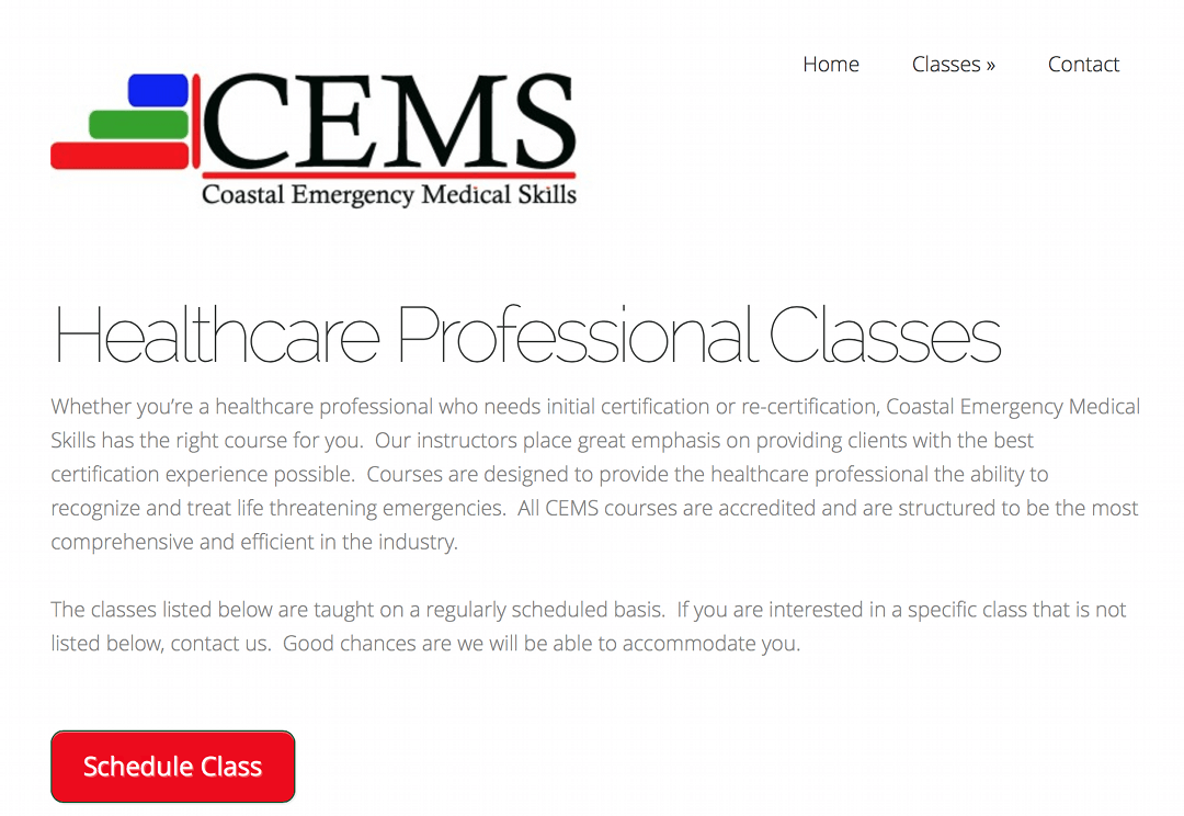 Healthcare Professional Classes