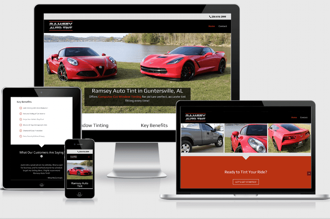 Ramsey Auto Tint Project Responsive